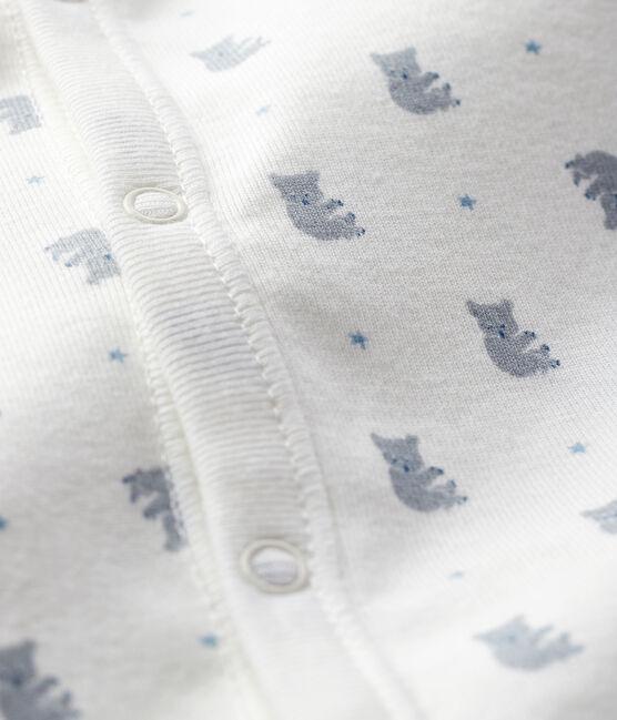 Combisac à imprimé koala bébé garçon en côte blanc Marshmallow / blanc Multico