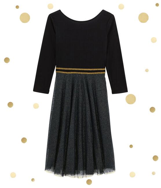 Robe femme bi-matière noir Noir / jaune Dore