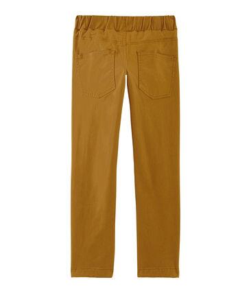 Pantalon doublé chaud enfant garçon marron Cuivre