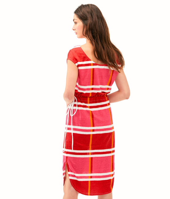 Robe femme rose Geisha / blanc Multico