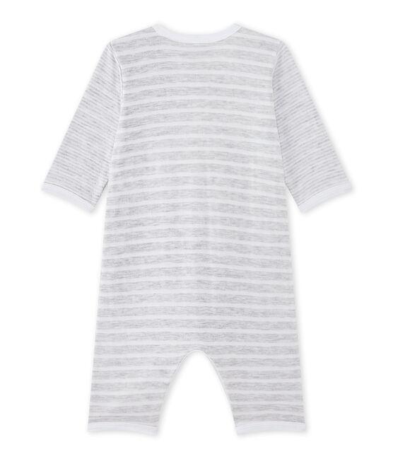 Dors bien sans pieds bébé garçon gris Poussiere / blanc Ecume