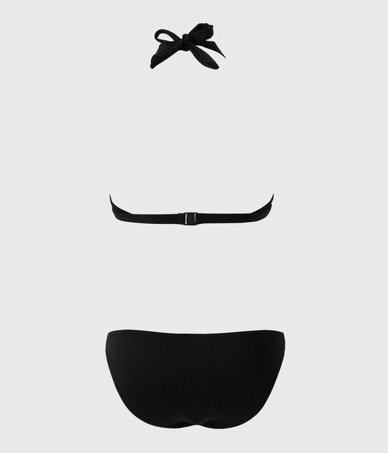 Maillot de bain 2 pièces noir noir Noir