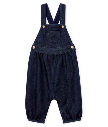 Salopette maille denim bébé fille bleu Denim Bleu Fonce