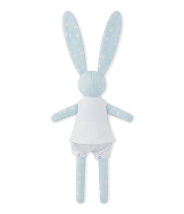 Doudou lapin imprimé