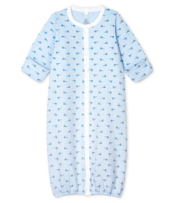 Combisac bébé en côte bleu Fraicheur / blanc Multico