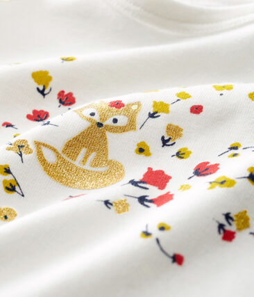 Tee shirt manches longues bébé fille blanc Marshmallow Cn