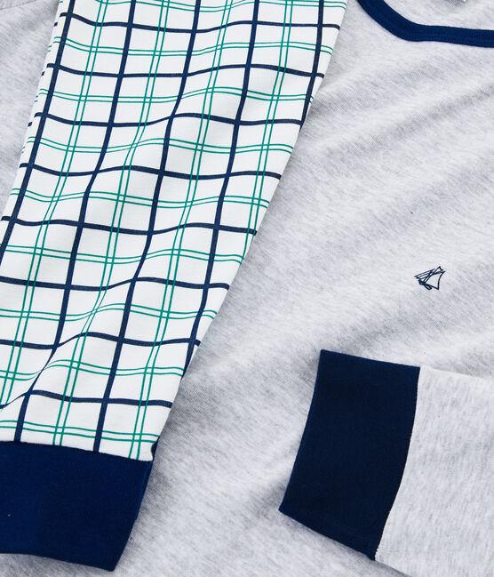 Pyjama garçon en côte blanc Marshmallow / blanc Multico