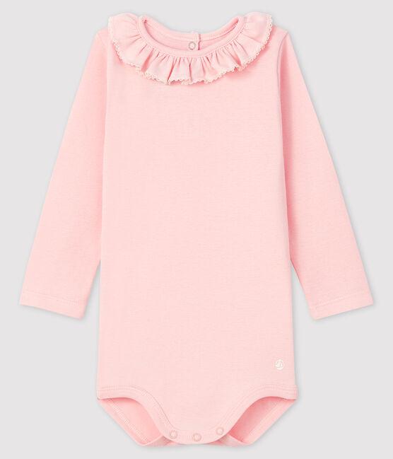 Body manches longues bébé fille rose Minois