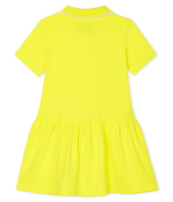 Robe polo bébé fille jaune Eblouis