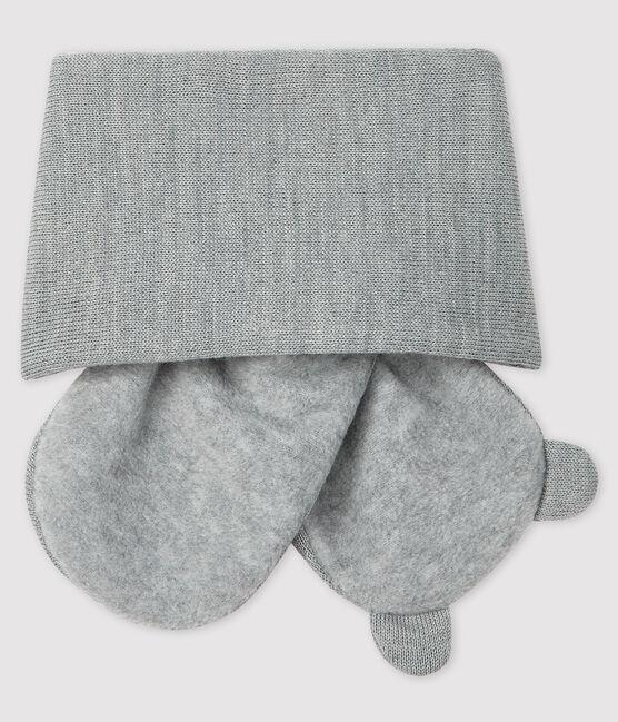 Echarpe bébé doublée micropolaire gris Subway