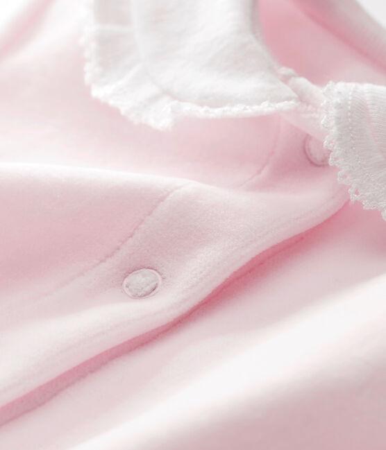 Dors bien bébé fille en velours de coton uni VIENNE