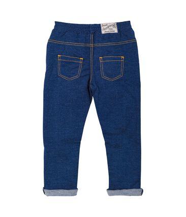 Pantalon bébé mixte en maille denim bleu Medieval / beige Ecru Cn