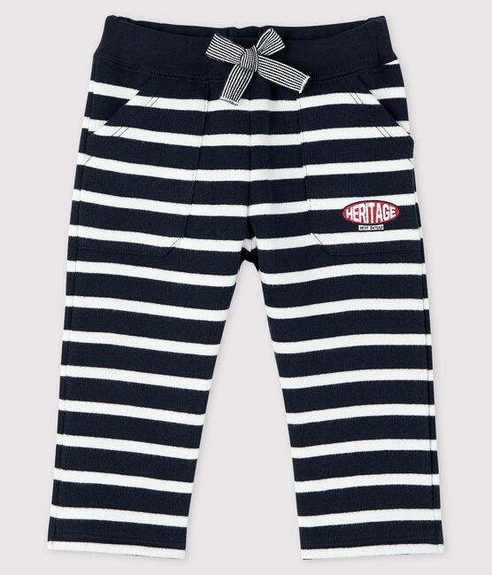 Pantalon marinière bébé garçon bleu Smoking / blanc Marshmallow