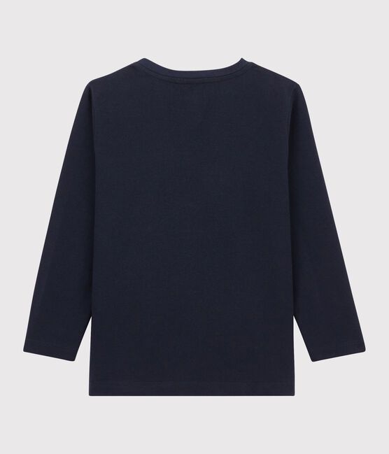 Tee-shirt sérigraphié enfant garçon bleu Smoking