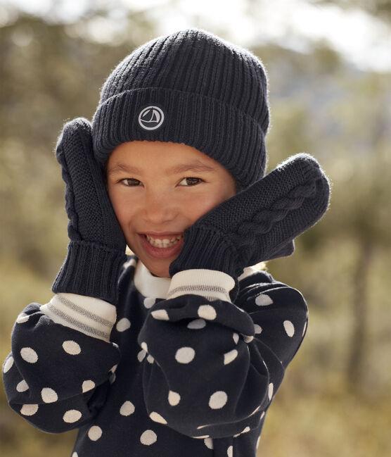 Bonnet en tricot enfant garçon - fille bleu Smoking