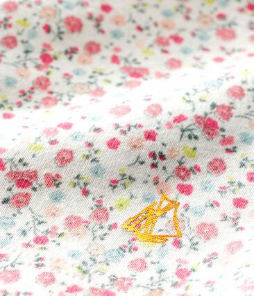 Blouse manches courtes imprimée bébé fille blanc Marshmallow / blanc Multico