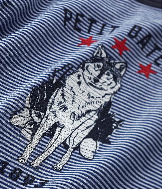 Pyjama garçon à motif loup bleu Surf / bleu Major
