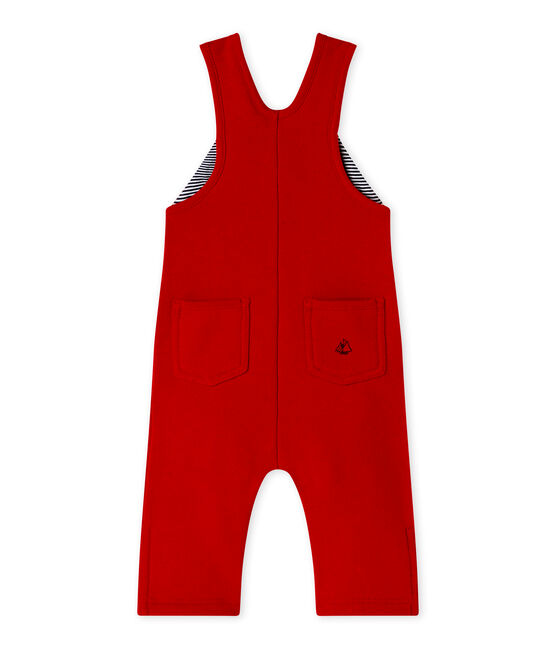 Salopette bébé garçon en molleton rouge Terkuit