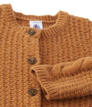 Cardigan bébé fille en laine mélangée marron Cuivre