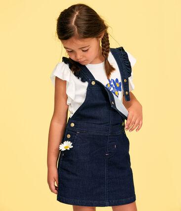 Robe salopette enfant fille bleu Denim Bleu Fonce
