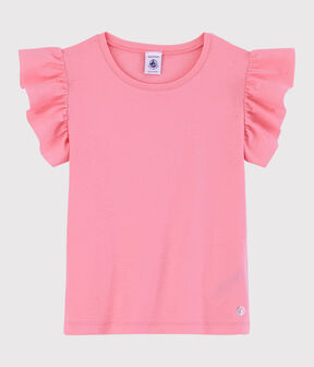 Tee-shirt manches courtes en coton enfant fille rose Gretel