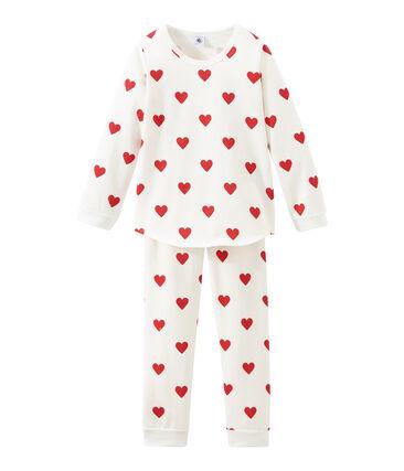 Pyjama petite fille en molleton