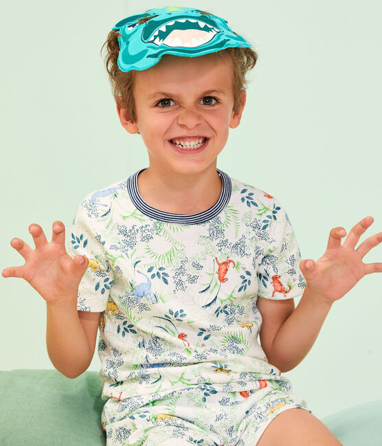 Pyjacourt petit garçon avec masque blanc Marshmallow / blanc Multico