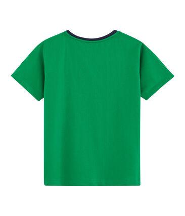 Tee-shirt enfant garcon vert Prado