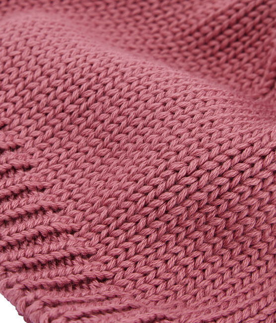 Bonnet à pompon enfant rose Cheek
