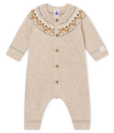 Combinaison longue tricot jaquard bébé garçon