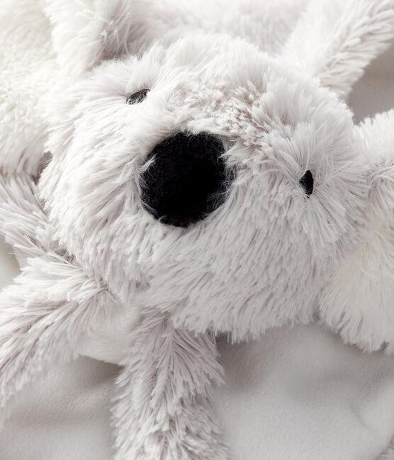 Doudou koala bébé en côte blanc Marshmallow / gris Gris