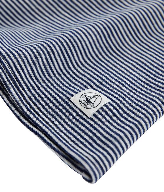 Tee shirt manches longues extra chaud femme bleu Smoking / blanc Marshmallow