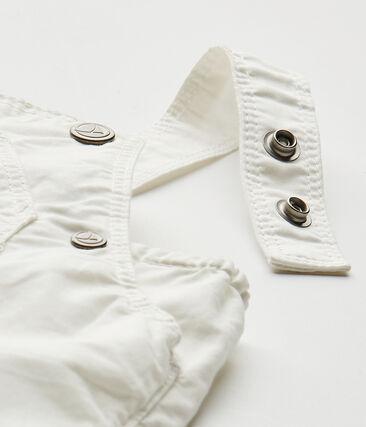 Salopette courte bébé garçon blanc Marshmallow