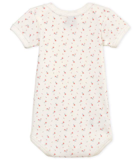 Body manches courtes bébé fille blanc Marshmallow / blanc Multico