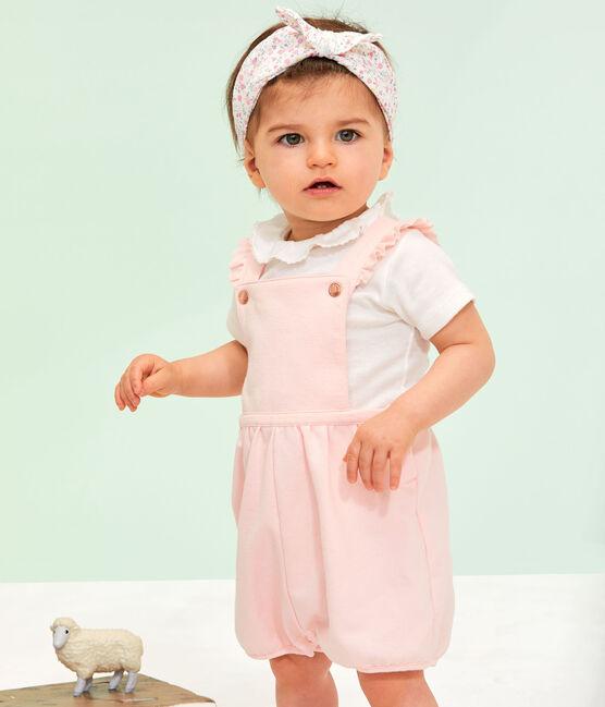 Salopette courte bébé fille en molleton MINOIS