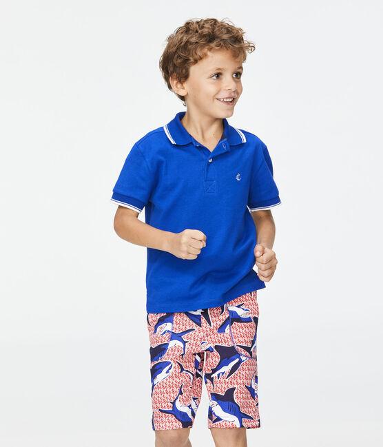 Polo enfant garcon bleu Surf