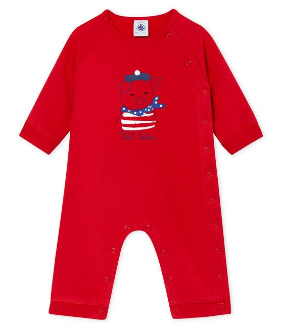 Combinaison bébé mixte en molleton rouge Terkuit