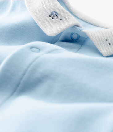 Dors-bien bébé garçon en velours de coton uni