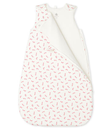 Gigoteuse bébé en côte blanc Marshmallow / rose Groseiller