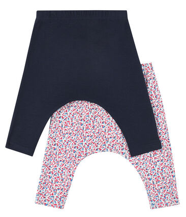 Lot surprise de 2 leggings bébé fille lot .