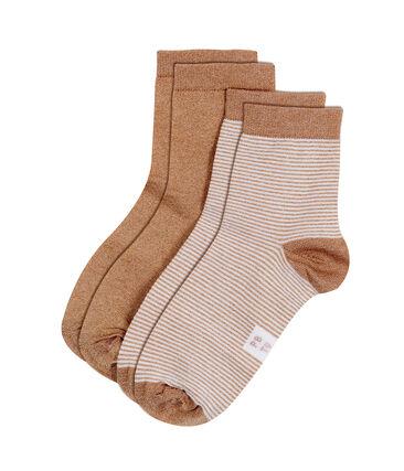 Lot de 2 paires de chaussettes femme