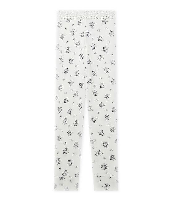 Bas de pyjama fille Mix & Match blanc Lait / gris Gris