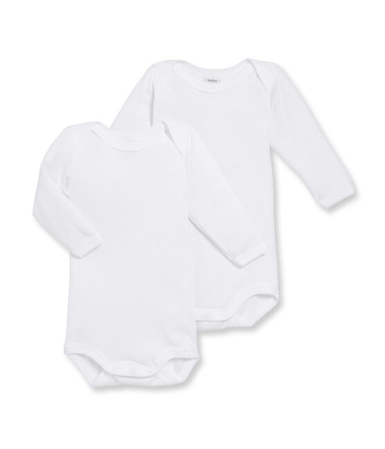 Duo de bodies manches longues bébé blanc Marshmallow
