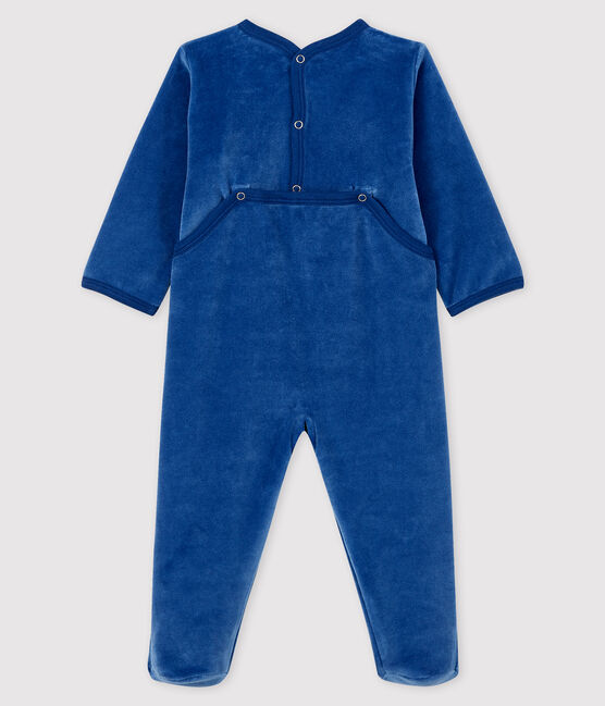 Dors-bien bleu bébé en velours MAJOR