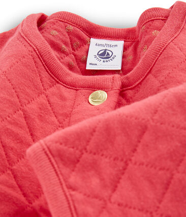 Cardigan enfant fille rouge Signal