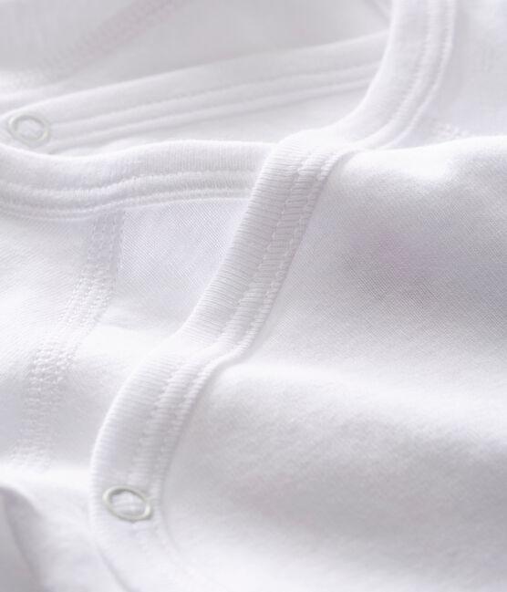 Lot de 2 bodies croisés blancs manches courtes bébé en coton biologique lot .