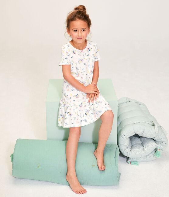 Chemise de nuit petite fille avec diadème blanc Marshmallow / blanc Multico
