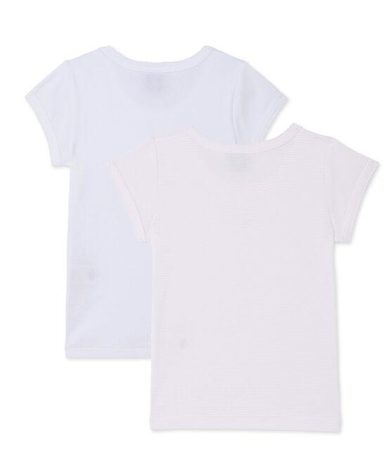 Lot de 2 t-shirts fille lot .