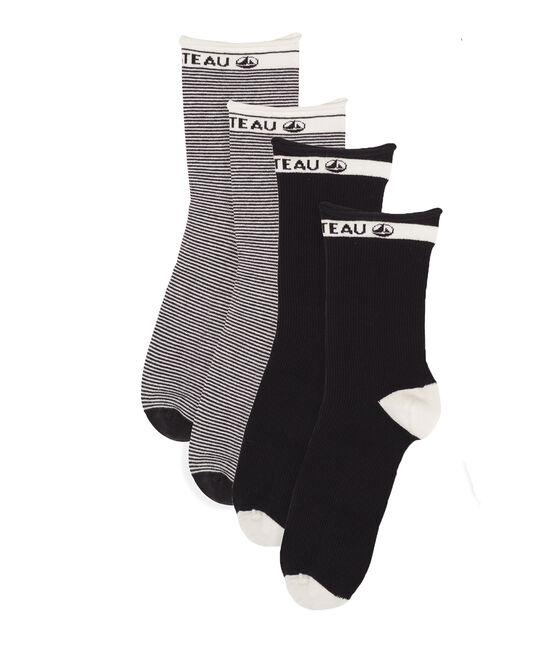 Lot chaussettes mi-hautes femme lot .