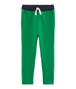 Pantalon maille enfant garçon vert Prado